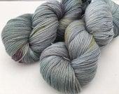 Hand dyed yarn New merino fingering -'Raindrops'