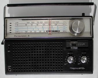Realistic Portavision-5 Model No. 12-765 Portable Radio