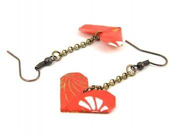 Origami earring Heart