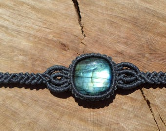 labradorite bracelet,macrame bracelet,macrame jewelry,labradorite jewelry,cabochon bracelet,stone bracelet,gemstone bracelet,womans bracelet