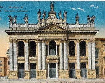 Roma, Basilica di S. Giovanni Laterano, Rome, Italy,  Antique Circa 1915 Unused Postcard, A. Scrocchi, Milano