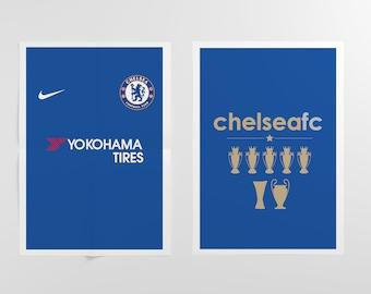Chelsea FC 2017/18 Shirt | Art Print