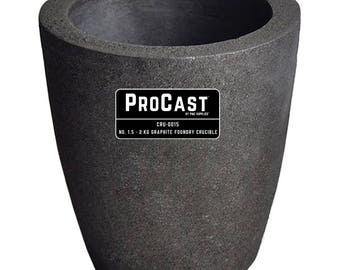 ProCast™ No. 1.5 - 2Kg Clay Graphite Foundry Crucible Metal Melting Furnace Refining Gold Silver Copper Jewelry Casting Tool - CRU-0015