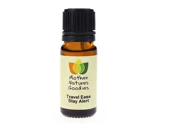 Travel Ease ALERT Essential Oil Blend  Pure Natural by Mother Nature's Goodies