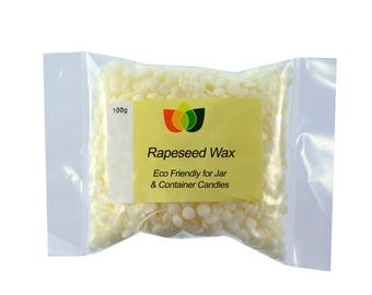 Rapeseed Wax Pure Natural Sustainable Wax for Container and Jar Candles Multi Size