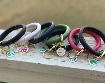 Key Chain Bangle with Lilly Monogram