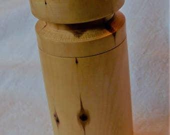 Yew Cylindrical Trinket Box