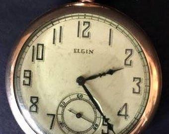 Elgin 1922 Model-3 Grade 345 17 Jewel 124 14K G.F. Pocket Watch Running