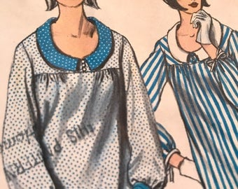 Vintage 1960's Dress Pattern With Cuff Interest---Vogue 6475---Size  12  Bust 32