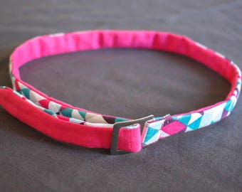 Kids reversible fabric belt