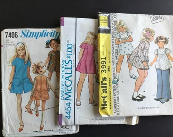 Vintage Children's Sewing Patterns, McCalls & Simplicity ( 3 )