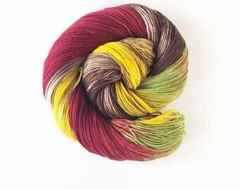 Iron Man ,   hand painted indie yarn