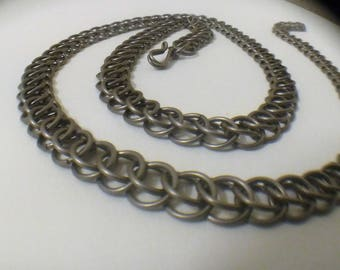 Titanium Half Persian Necklace, Handcrafted Chainmaille.