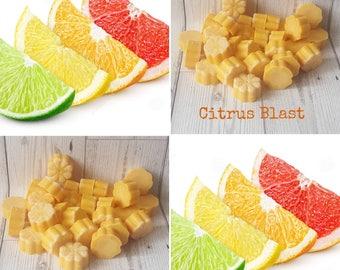 5 CITRUS BLAST WAX Melts, Citrus Wax Melts, Fruity Wax Melts, Orange Wax Melt, Lemon Wax Melt, Bergamot Wax Melts, Lemon Verbena Wax Melts