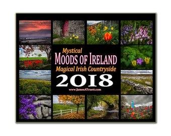Wall Calendar 2018 Moods of Ireland Collectors Wall Calendar, 2018 wall planner, Ireland calendar, landscape calendar, gift for grandma