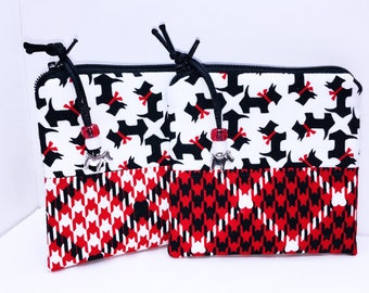 Scottish Terrier Change Purse, Scottie Dog Coin Purse, Small Zipper Pouch, Dog Coin Purse Wallet