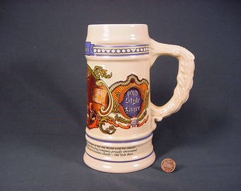 Old Style Lager * Beer Stein Mug * Vintage Old Collectible *
