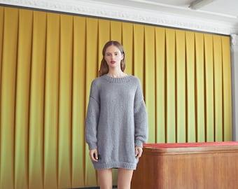 Wool Alpaca Leggy Sweater Dress