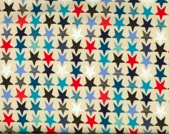 Stars background jersey fabric