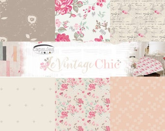 1/2 Yard Bundle Le Vintage Chic by AGF Studio- 6 Fabrics
