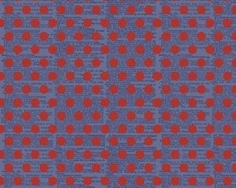SALE!! 1 Yard Lost and Found Americana by Jen Allyson for Riley Blake Designs- 5982 Red Dot