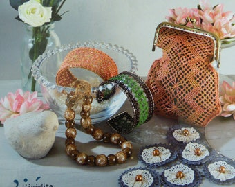 Martine Piveteau lace fashion accessories and jewelry