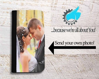 Custom iPhone case Photo, Wallet iPhone case for SE 5 6 7 8 X and Plus, Photo iPhone Wallet case, Wedding iPhone case, personalized iPhone