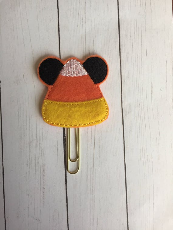 Mr Mouse Candy Corn planner Clip/Planner Clip/Bookmark. Mouse Planner Clip. Candy Corn Planner Clip. Halloween Planner Clip