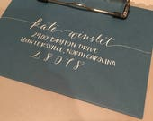Envelope Calligraphy & Custom Stamp