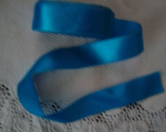 Vintage turquoise blue satin ribbon