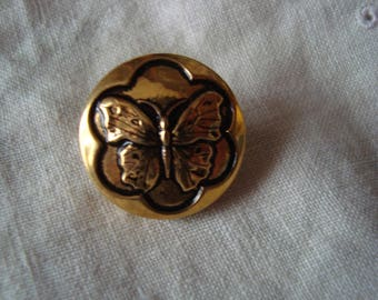 1 metal Butterfly button