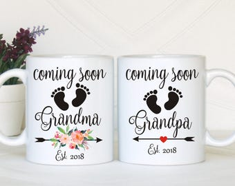 Pregnancy reveal gift, Pregnancy reveal to grandparents, Pregnancy announcement gift, Pregnancy announcement grandparents, Pregnancy mugs