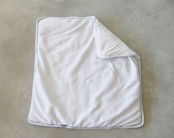 Cot Blanket Bassinet Cream Blanket Baby Quilt Comforter Mini Crib Bedding