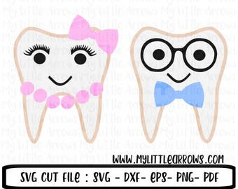 Tooth svg - instant download - SVG, Dxf, Eps, png Files for Cutting Machines Cameo or Cricut - dental hygienist - dental svg