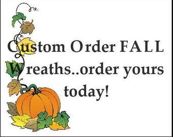 Custom Made wreath, Personalized Wreath, Fall wreath, Halloween Wreath, Thanksgiving Wreath