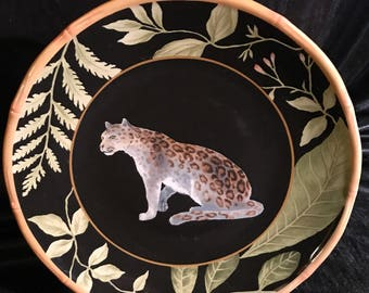 90' decorative Cheetah decorative display plates