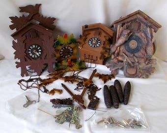 Black Forest Cuckoo Clocks Parts & Repair