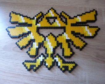 Sprite of the Zelda's Crest in perler beads from The Legend of Zelda - Hama Beads - Pixel Art