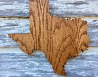 Texas Wood Cutout Sign -  TX State Wooden Cutout Wall Art Hanging Sign State Sign