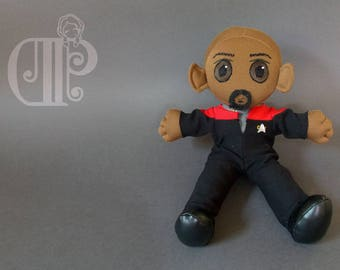 Benjamin Sisko Star Trek Deep Space 9 Plush Doll Plushie Toy [READY TO SHIP]