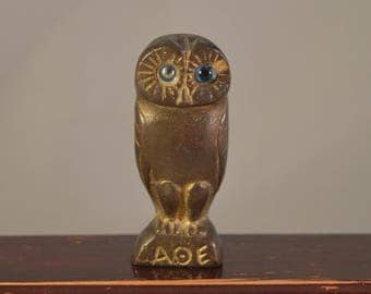 Vintage solid brass OWL,figure,miniature