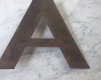 "Vintage Mid-Century Modern Brass Letter ""A"""