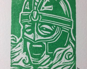 Shield Maiden (Eowyn) Linocut Print