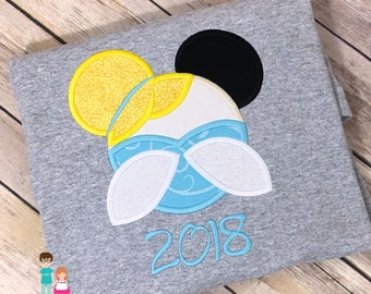 Cinderella Shirt, Princess Cindy, Cinderella Personalized Mouse Head Shirt, Embroidered Mickey Mouse Head Cindy Shirt, Disney Family Shirts