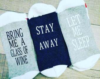 If You Can Read This, Stocking Stuffer, Bring Me WINE, socks, Wine Socks, Gifts for Wine Lovers, Sock, Bring Me Wine Sock, Secret Santa Gift