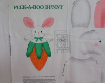 Easter Peek A Boo Bunny door or wwallhanging fabric panel to sew from VIP Cranston Print works that is adorable.