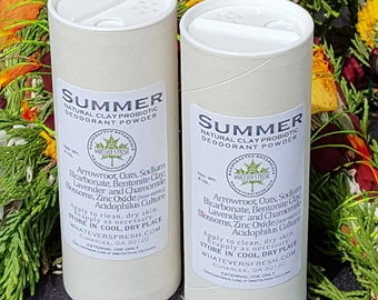 Botanical Deodorant Powder with Natural Clays