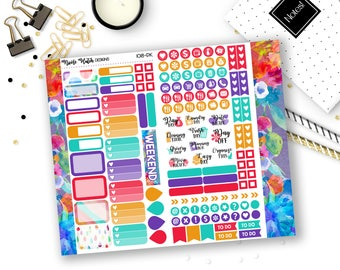 1018-PK // PERSONAL Trifold Insert Sticker Kit // Be Bold Collection // Planner Stickers