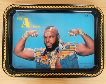 The A-Team - Mr. T - Metal TV Tray - Vintage 1983