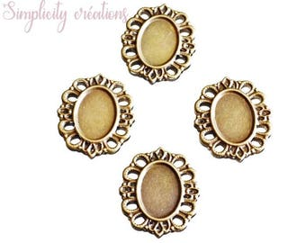3 supports 44 x 37mm oval cabochons